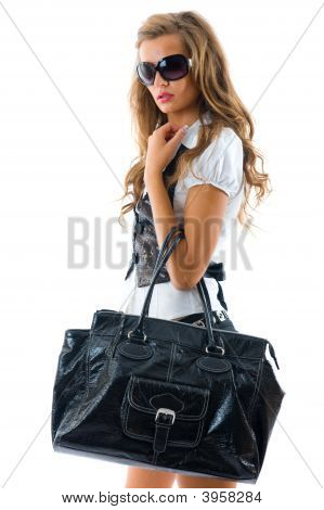 Fashion Model With Big Bag