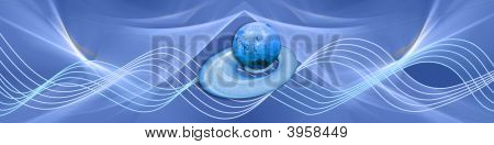 Blue Waves With Globe