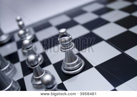 Silver White Chess Bishop