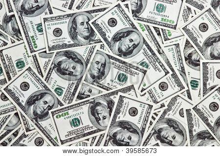 hundert-Dollar-Anmerkung hautnah