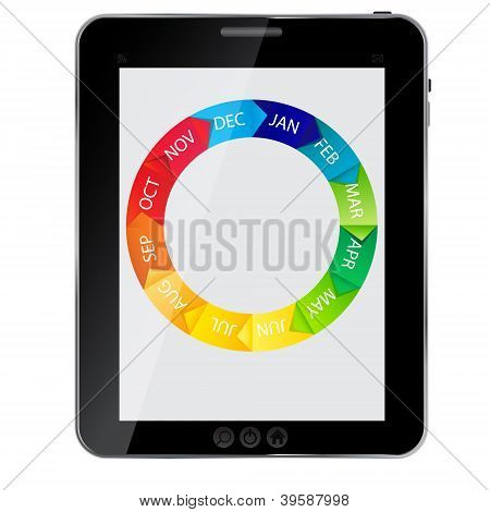 Tablet icon vector illustration. EPS 10 .