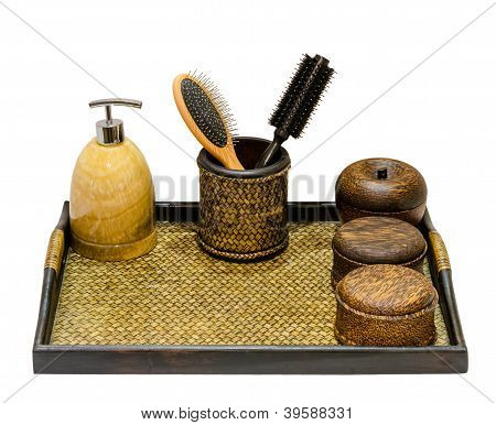 Wooden Bucket And Natural Product