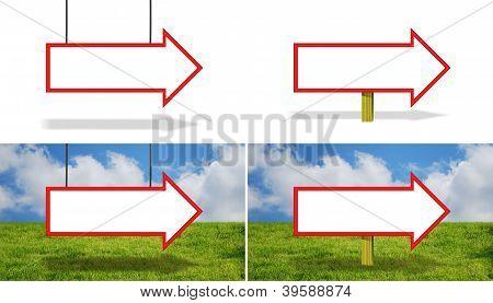 Blank Arrow SIgns