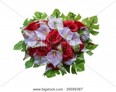 Wedding bouqet of artificial flowers