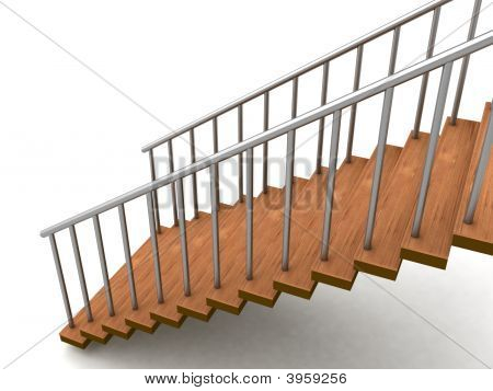 Isolated Three Dimensional Stairs