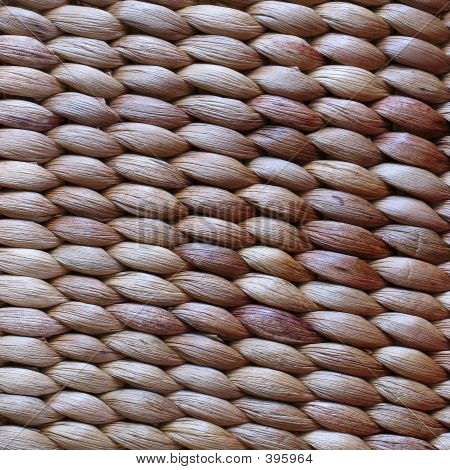 Closeup Of A Woven Basket