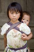 pic of hmong  - Hmong people brothers and sisters in Laos living in poverty - JPG