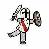 picture of arthurian  - cartoon boy dressed as knight - JPG