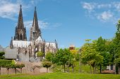 stock photo of koln  - View on High Cathedral of St - JPG