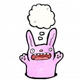 foto of rabbit hole  - cartoon pink rabbit in hole - JPG