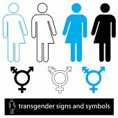 stock photo of transgendered  - A set of transgender icons and symbols - JPG