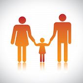 picture of nuclear family  - Happy family of father mother  - JPG