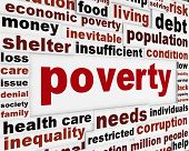 picture of unemployed people  - Poverty warning message concept - JPG