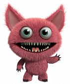 pic of gremlins  - 3 d cartoon cute furry gremlin monster - JPG