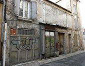 picture of poitiers  - Old buildings on a street in Poitiers France - JPG