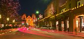 picture of luminaria  - The Plaza in Santa Fe in christmas lights - JPG