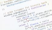 stock photo of generic  - close up photograph of generic javascript code on computer monitor - JPG