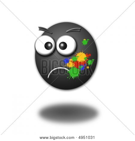 Illustration Of A 3D Smiley On A White Background