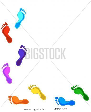 Colored Footprints