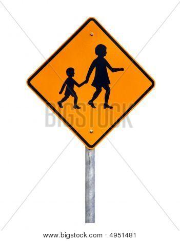 Warning Children Crossing - Australian Road Sign