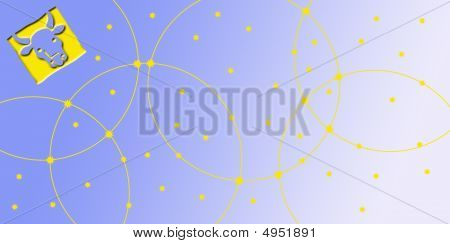 Card In Landscape Format With Sign Of The Zodiac - Bull, Taurus