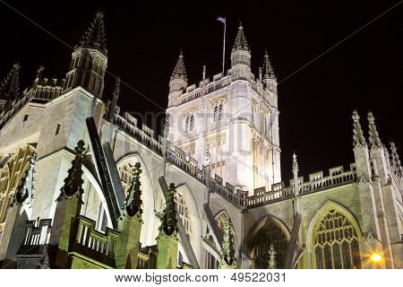 Bath Abbey At Night
