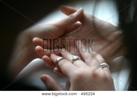 Stroking Of Hand