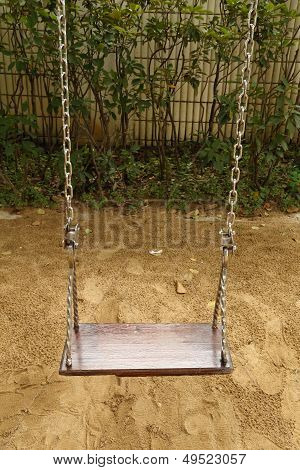 Swing Set On The Playground