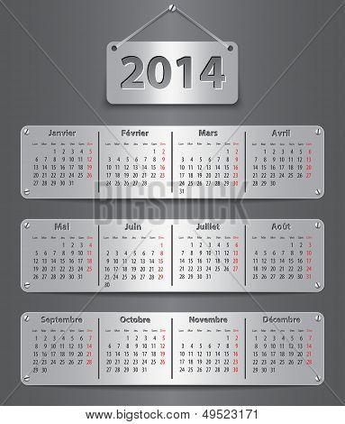 2014 French Calendar