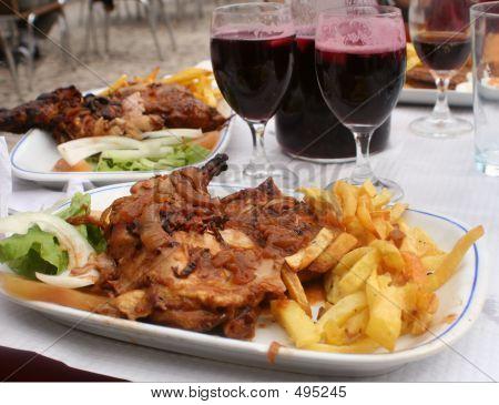 Cena de pollo