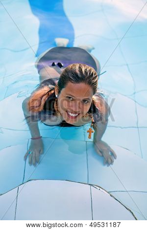 Christian Woman Swimming