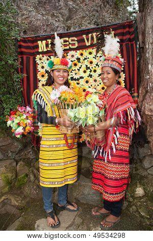 Two Filipino Women in Costume