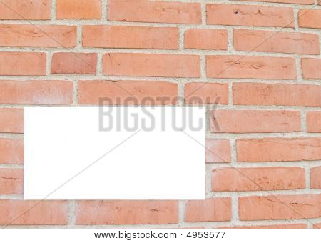Red Brick Wall With Copyspace