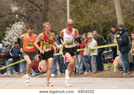Boston, Ma 04 20 2009 Andrew, Sell And Troop Race Up Heartbreak Hill During The Boston Marathon