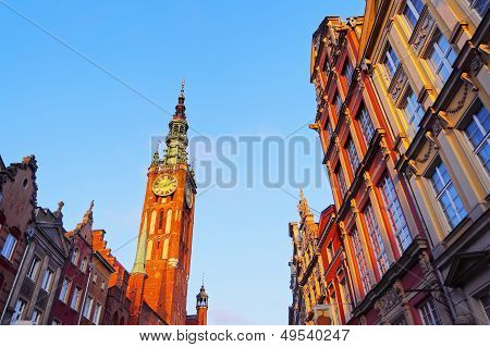 City Hall In Gdansk, Poland