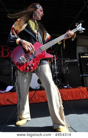 Bassist Player Playing Live
