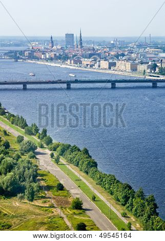 Panoramic View Of Riga, Latvia