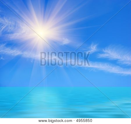 Sunny Day At Ocean