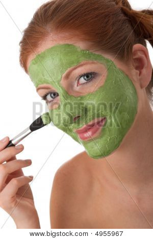 Body Care Series - Young Woman With Facial Mask