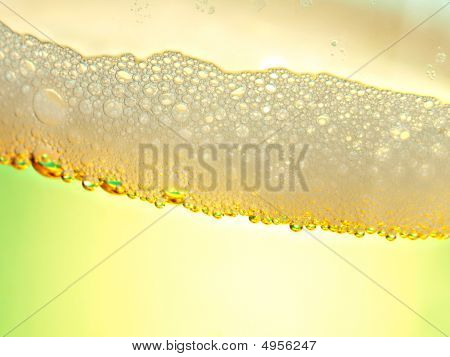 Beer Closeup With Greenish Yellow Effect