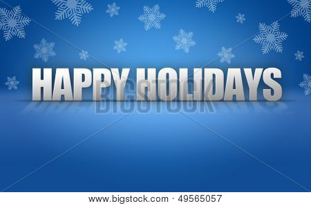 Happy Holidays Text On Snowflake Background