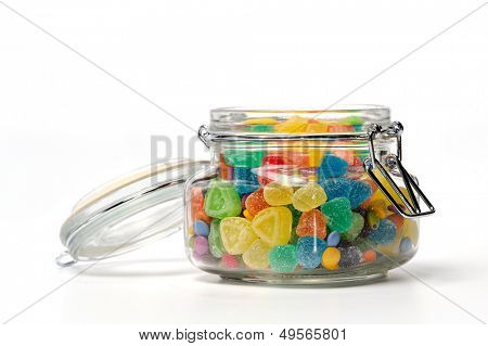assortment of colorful candies