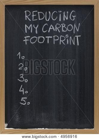 Reducing Carbon Footprint On Blackboard