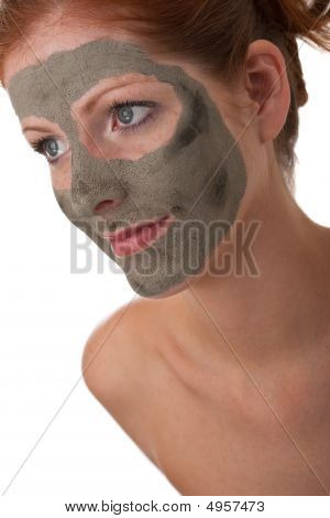 Body Care Series - Beautiful Woman With Mud Mask