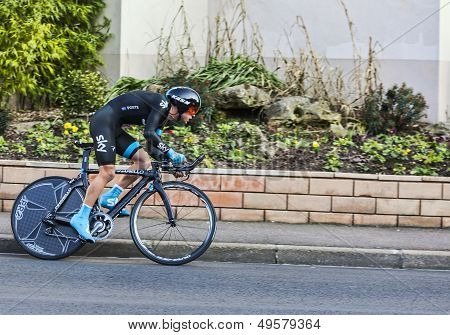 The Cyclist Richie Porte- Paris Nice 2013 Prologue In Houilles