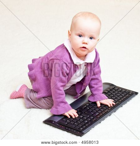 Infant With Keyboard