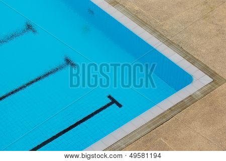 Empty Conner Of Swimming Pool