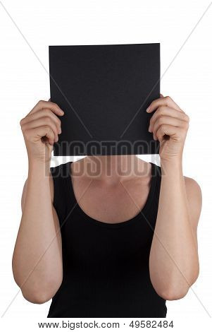Person With A Black Square