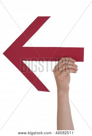 Person Holding An Arrow