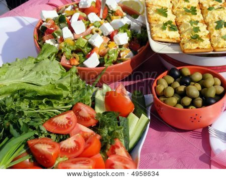 Vegetables And Sandwich